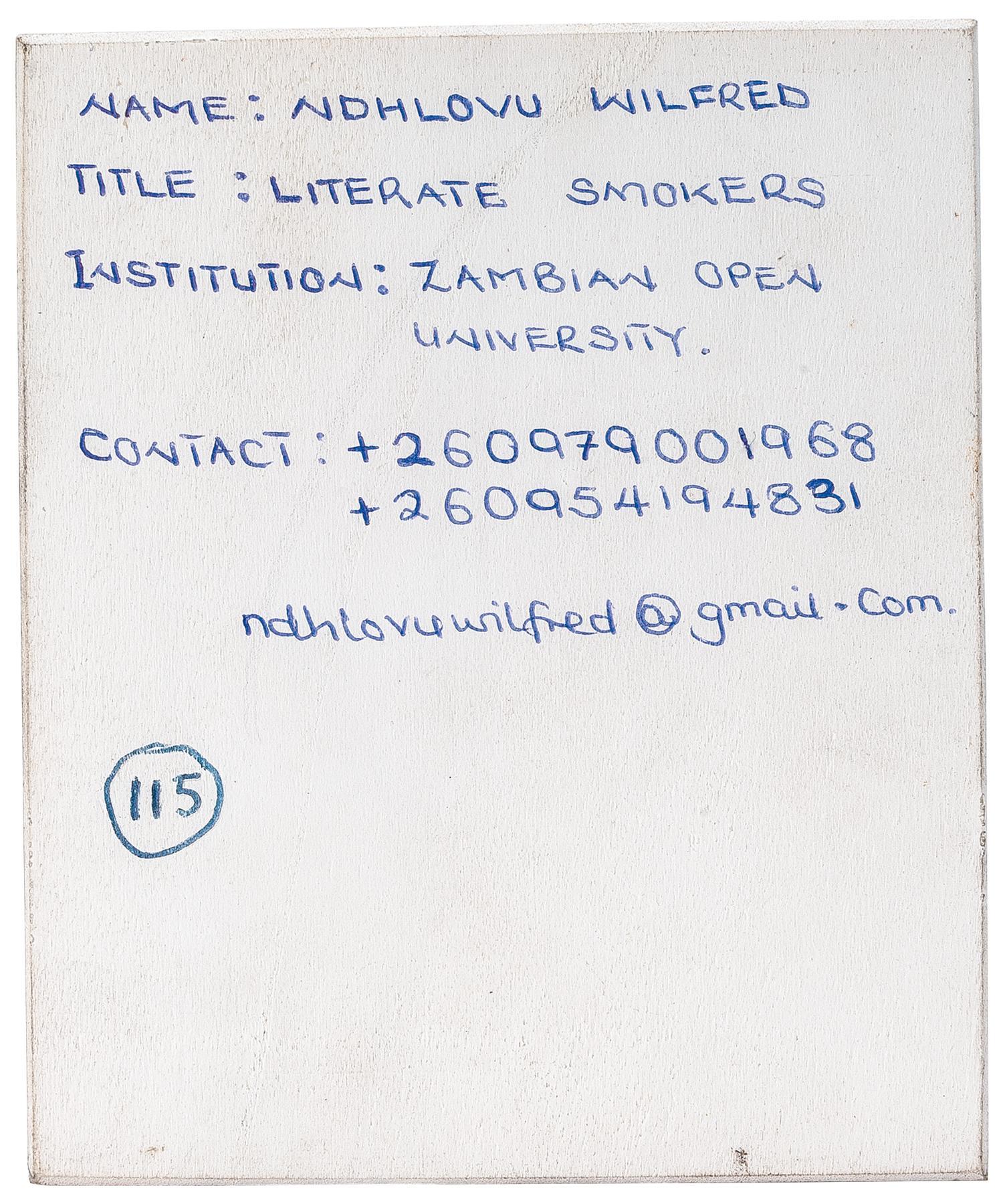 Imago Mundi Literate Smokers By Wilfred Ndhlovu